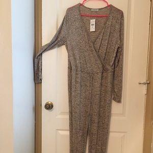 Fashion Nova Gray Romper/ Jumpsuit